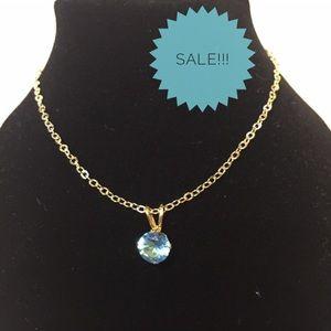 Jewelry - Necklace🔥2/$20  Blue Diamond CZ Pendant w/ chain